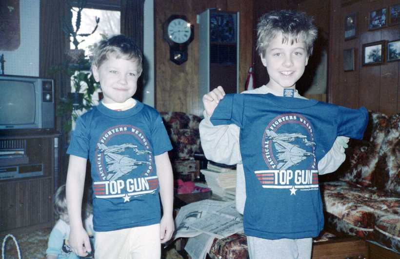 My older brothers wearing Top Gun t-shirts