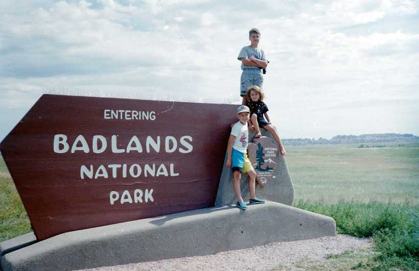 Family trip to the Badlands and Mount Rushmore