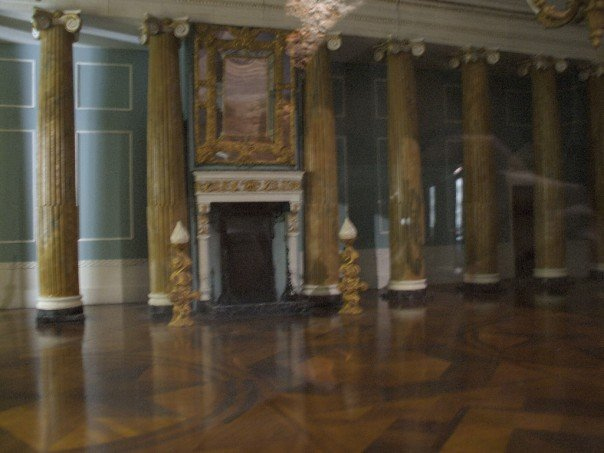 This is a picture of a model. This is what the Powerscourt mansion's ballroom looked like before a fire in the 70's burnt most of the building.