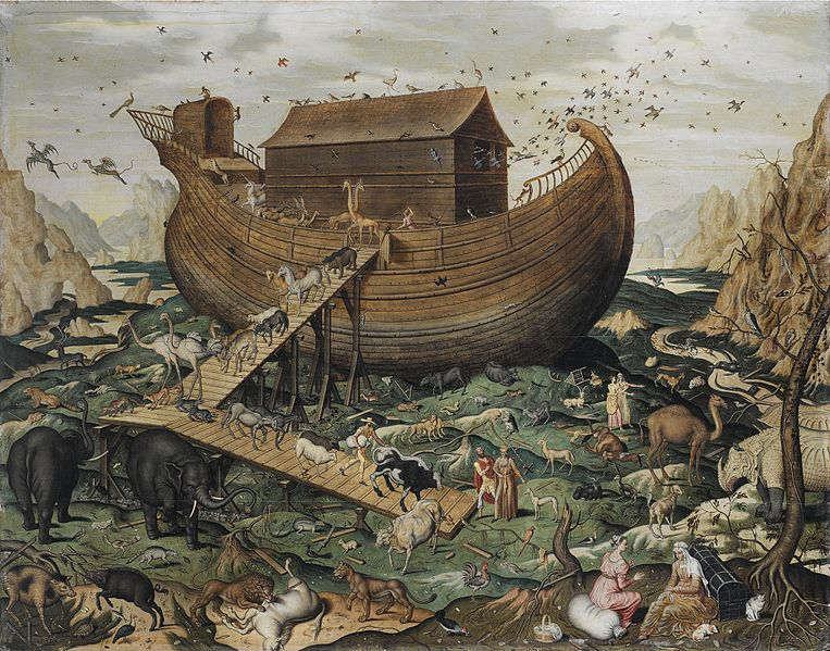 Animals exiting the ark. Image Source: Wikimedia