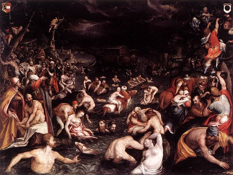 All of humanity drowning to death. Image Source: Wikimedia.