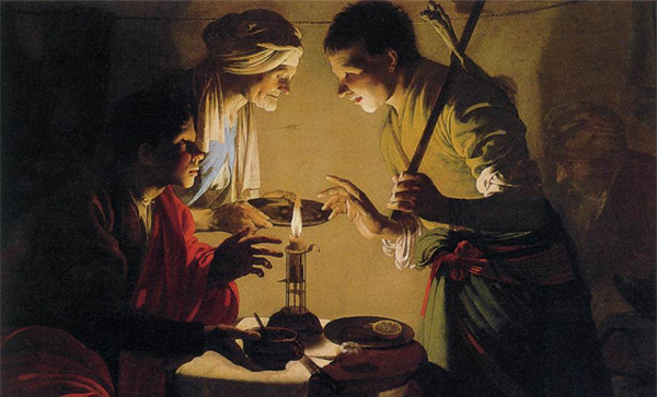 Esau sells Jacob his birthright | Image Source: