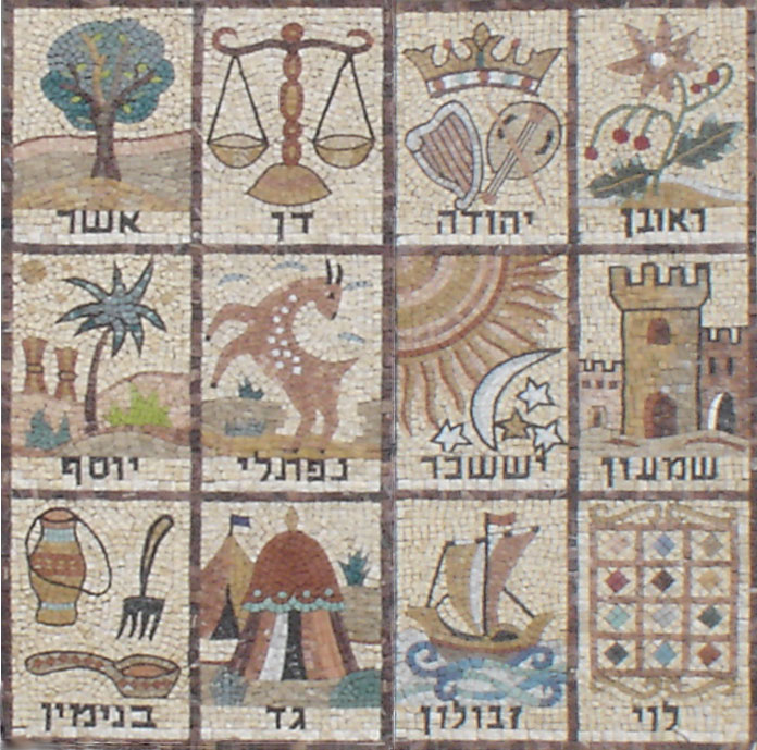 Mosaic of the 12 Tribes of Israel | Wikipedia