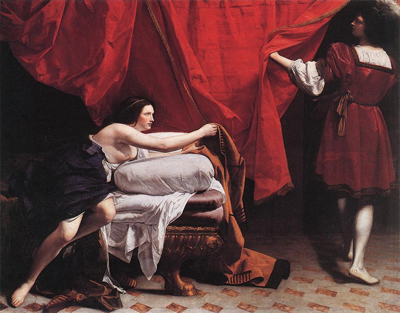 Joseph and Potiphar's Wife by Orazio Gentleschi