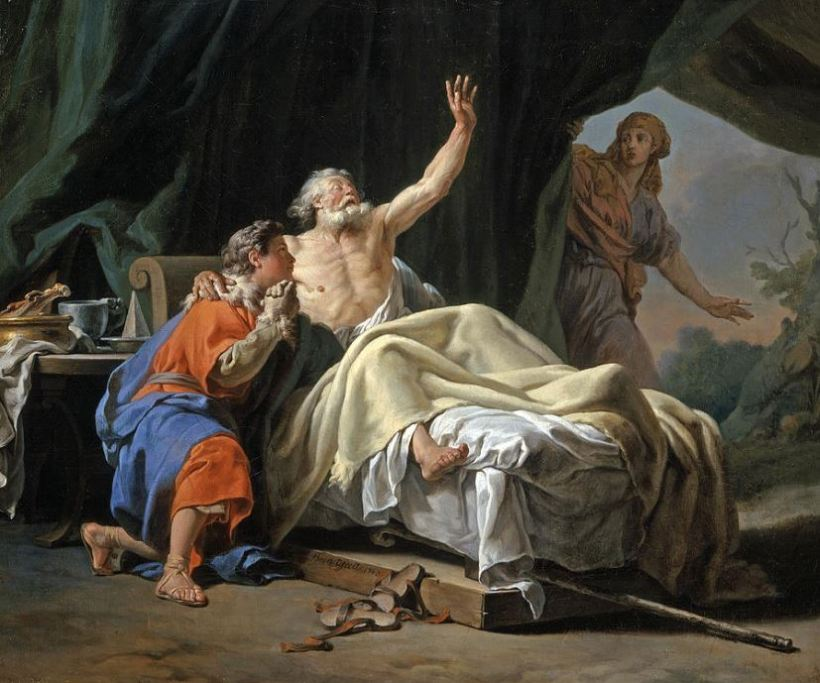 Isaac Blessing Jacob by Nicolas-Guy Brenet